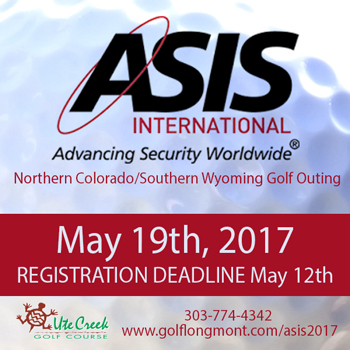 ASIS golf tournament promo image