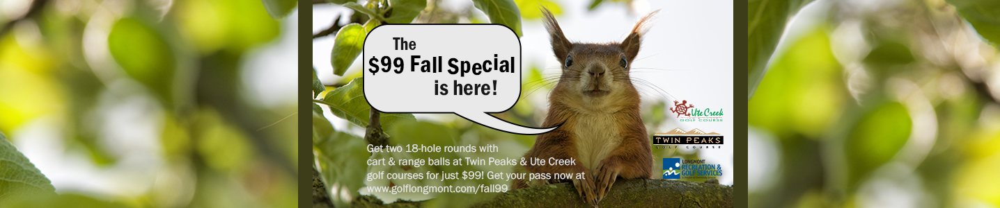 The $99 Fall Golf Special is back!