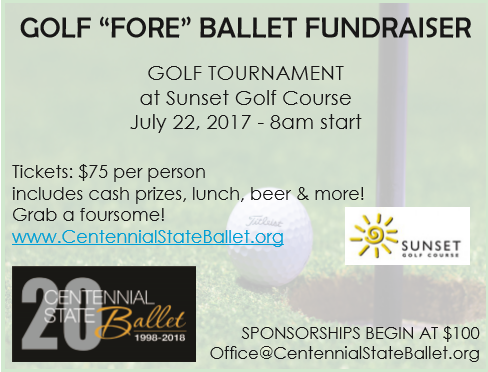 golf fore ballet fundraiser image